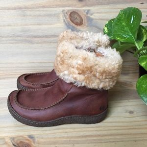 Born | Leather and shearling trimmed boots sz 6.5